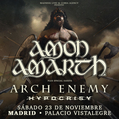 Amon Amarth + Arch Enemy + Hypocrisy (Madrid) PISTA