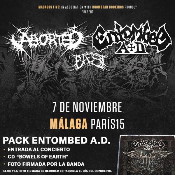 Aborted + Entombed AD + Baest (Murcia)