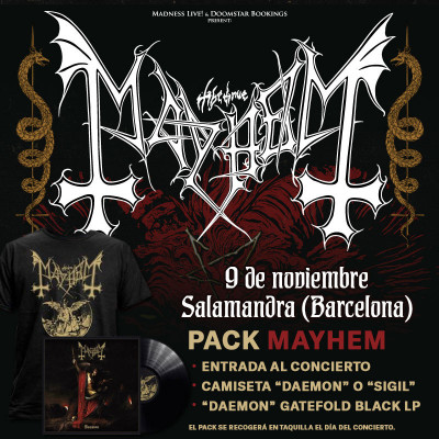 "Pack Mayhem ""Sigil"" Camiseta + LP (Barcelona)"