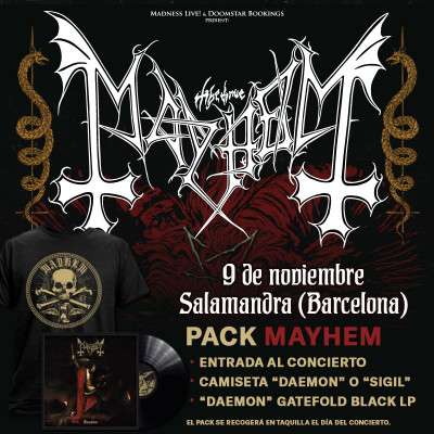 "Pack Mayhem ""Daemon"" Camiseta + LP (Barcelona)"