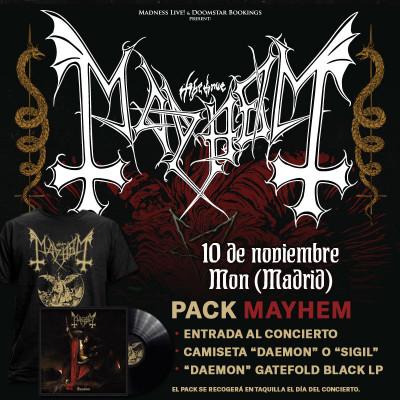 """Pack Mayhem """"Sigil"""" Camiseta + LP (Madrid)"""