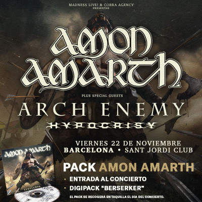 Pack CD Amon Amarth (Barcelona) PISTA