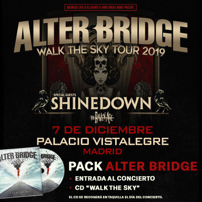 Pack Alter Bridge + CD (Madrid) PISTA