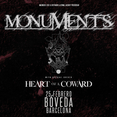 Monuments + Heart of a Coward + I Built The Sky (Barcelona)