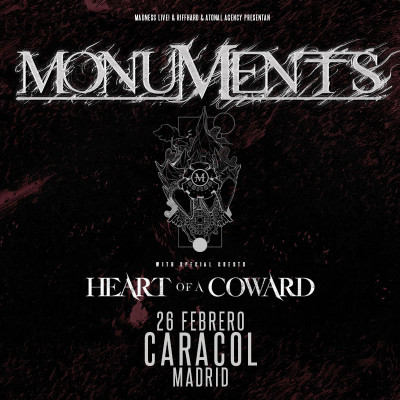 Monuments + Heart of a Coward + I Built The Sky (Madrid)