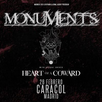 Entradas Monuments + Heart of a Coward (Madrid)