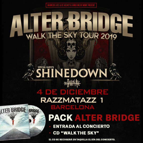 Pack Alter Bridge + CD (Barcelona) PISTA