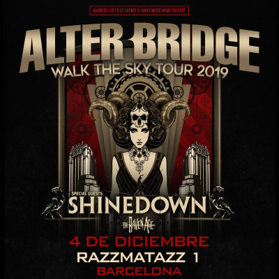 ALTER BRIDGE + Shinedown + The Raven Age (Barcelona) PISTA