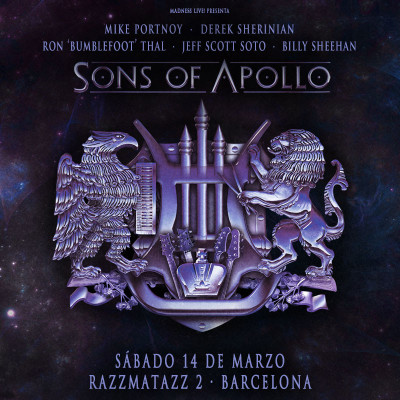 Sons of Apollo + Noturnall (Barcelona)
