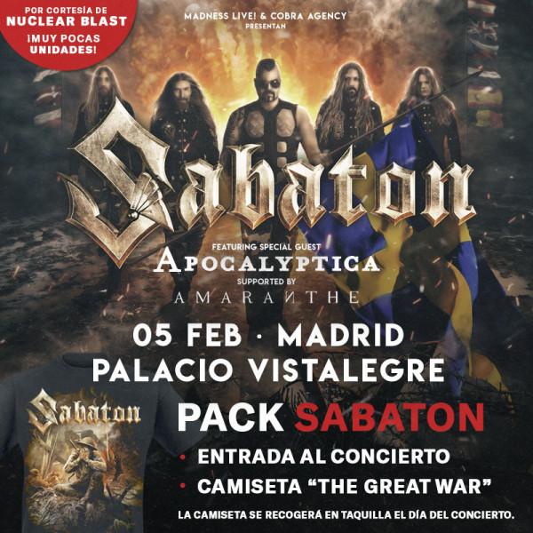 Pack Sabaton + Camiseta (Madrid) PISTA