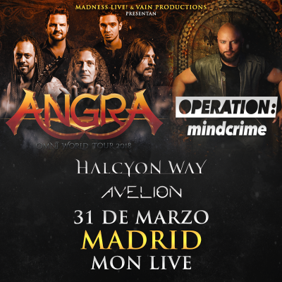 Angra + Geoff Tate's Operation Mindcrime + Halcyon Way + Avelion (Madrid)