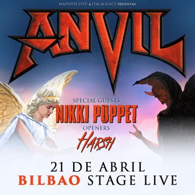 Entradas Anvil + Nikki Puppet + Harsh (Bilbao)