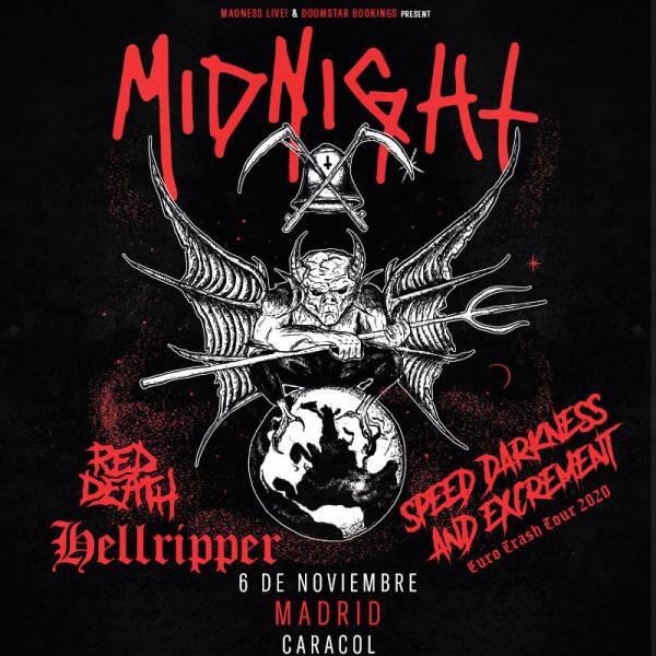 Midnight + Hellripper + Red Death (Madrid)