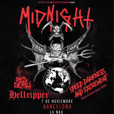Midnight + Hellripper + Red Death (Barcelona)
