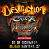 Destruction + Crisix + Suicidal Angels (Bilbao)