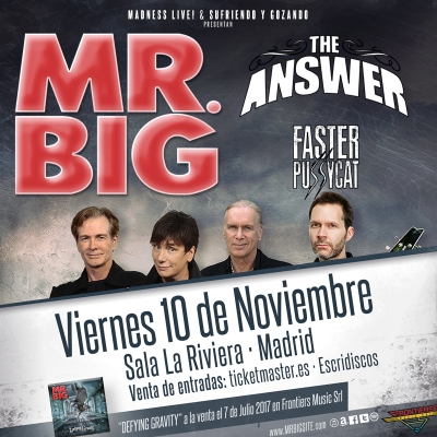 MR.BIG + The Answer + Faster Pussycat (Madrid)