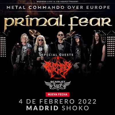 Comprar entradas Primal Fear + tbc + Scarlet Aura (Madrid)