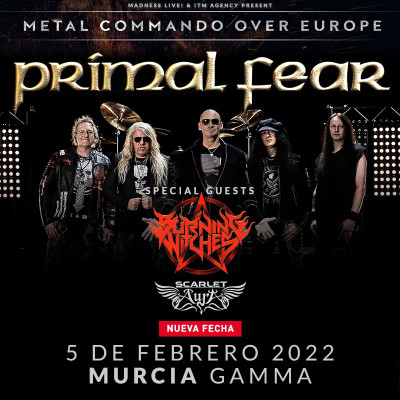 Comprar entradas Primal Fear + tbc + Scarlet Aura (Murcia)
