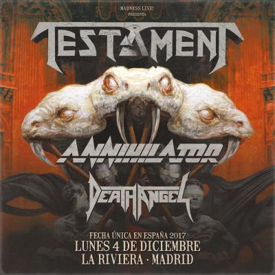 Testament + Annihilator + Death Angel Madrid)