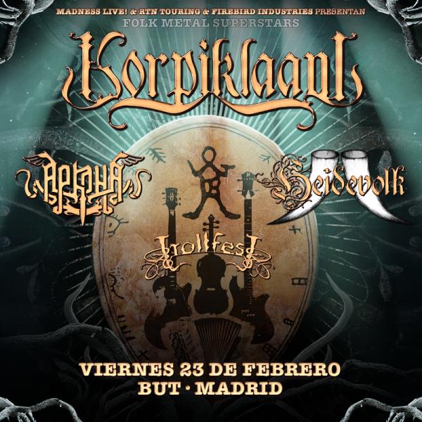 Korpiklaani + Arkona + Heidevolk + Trollfest (Madrid)