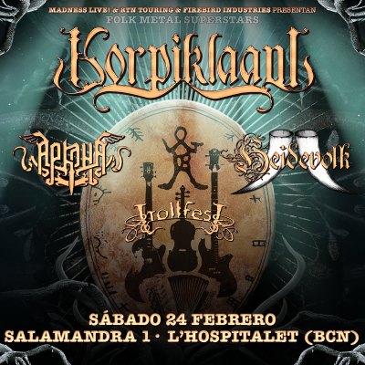 Korpiklaani + Arkona + Heidevolk + Trollfest (Barcelona)