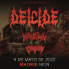 Entradas Deicide + Krisiun + Crypta (Madrid)