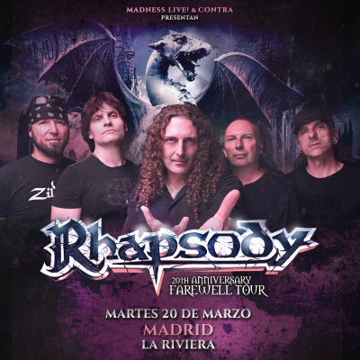 Rhapsody + Beast in Black + Scarlet aura (Madrid)