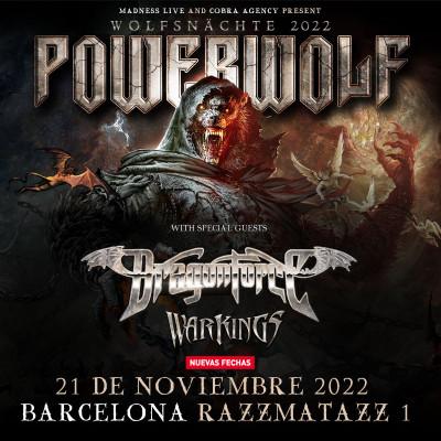 Comprar entradas para Powerwolf + Dragonforce + Warkings (Barcelona)