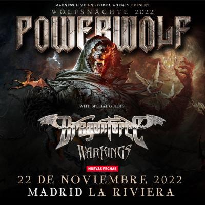 Comprar entradas para Powerwolf + Dragonforce + Warkings (Madrid)