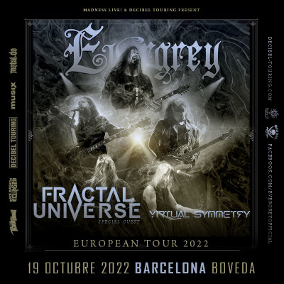 Evergrey + Fractal Universe + Virtual Symmetry (Barcelona)
