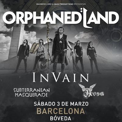 Orphaned Land + In Vain + Subterranean Masquerade + Aevum (Barcelona)