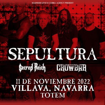 Sepultura + Sacred Reich + Crowbar (Pamplona)