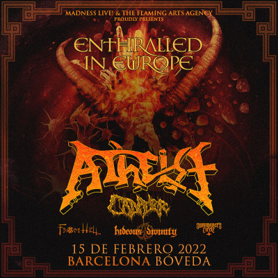 Entradas Atheist + Cadaver + Svart Crown + From Hell (Barcelona)