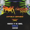 Havok + Darkest Hour + Cephalic Carnage + Harlott (Sevilla)