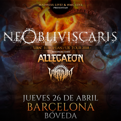 Ne Obliviscaris + Allegaeon + Virvum (Barcelona)