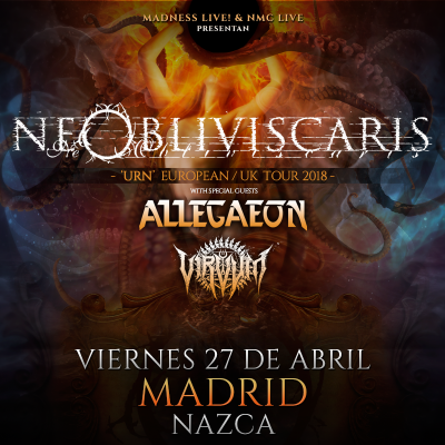 Ne Obliviscaris + Allegaeon + Virvum (Madrid)