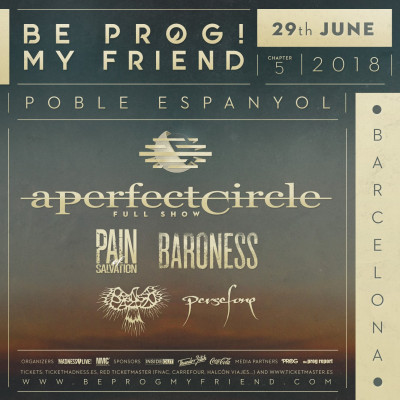 29th June Be Prog! My Friend 2018 (Barcelona)