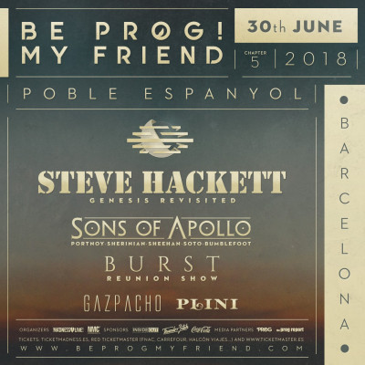 30th June Be Prog! My Friend 2018 (Barcelona)