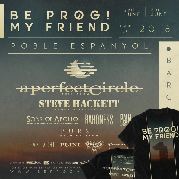 T-Shirt + Two-days pass Be Prog! My Friend 2018 (Barcelona)