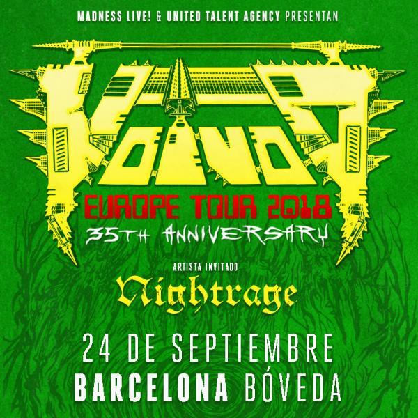 Voivod + Nightrage (Barcelona)