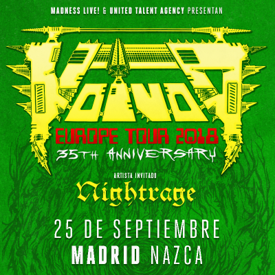 Voivod + Nightrage (Madrid)