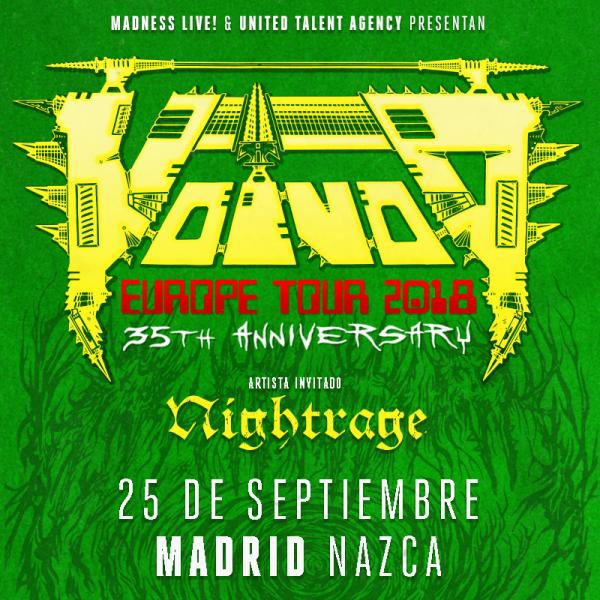 Voivod + Nightrage (Madrid)