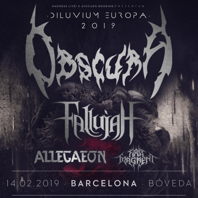 Obscura + Fallujah + Allegaeon + First Fragment (Barcelona)