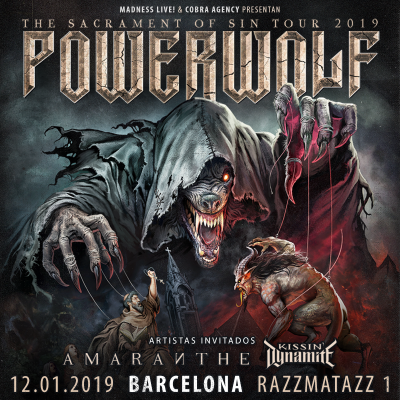 Powerwolf + Amaranthe + Kissin' Dynamite (Barcelona)