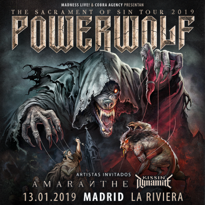 Powerwolf + Amaranthe + Kissin' Dynamite (Madrid)