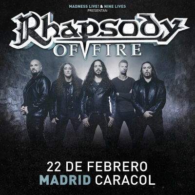 Rhapsody Of Fire + Thornbridge + Aquelarre (Madrid)