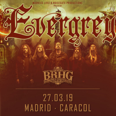 Evergrey + Bloodred Hourglass + Genus Ordinis Dei (Madrid)