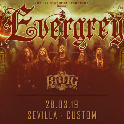 Evergrey + Bloodred Hourglass + Genus Ordinis Dei (Sevilla)