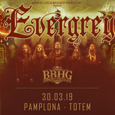 Evergrey + Bloodred Hourglass + Genus Ordinis Dei (Pamplona)