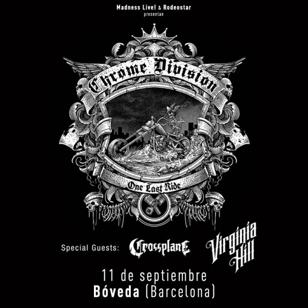 Chrome Division + Crossplane + Virginia Hill (Barcelona)